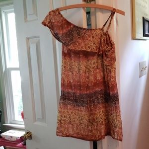 Multi colored one shoulder top